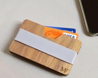 Personalised Business Card Holder, Card Holder, Wooden Wallet, Personalised Card Holder, Man Wallet, Wooden wallet for business Cards