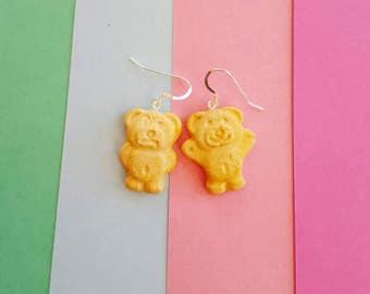 Tiny Teddy Earrings Polymer Clay Sam Darnley
