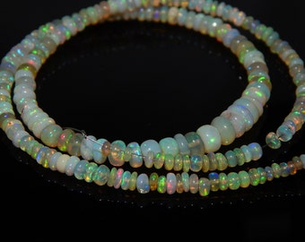 Ethiopian Fair Opal Smooth Beads Rondelle Shape 2x6 mm Approx Good Quality Wholesale Price