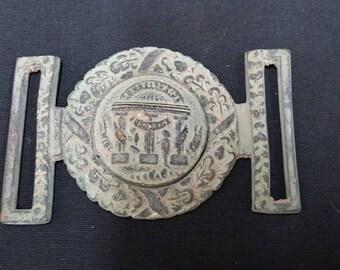 U.S. Civil War Confederate Georgia 2 Piece Belt Buckle Reproduction