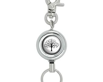 Tree Of Life Lanyard Belt Id Badge Key Retractable Reel Holder