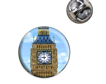 Big Ben Clock Tower London England Lapel Hat Tie Pin Tack