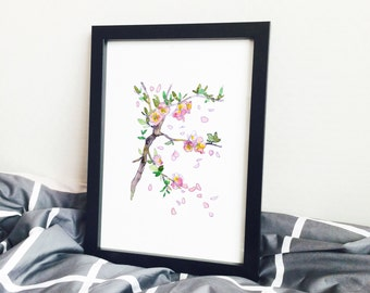 Cherry blossom Flower Poster Series