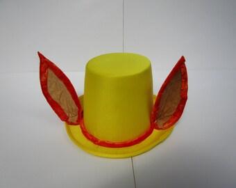 Yellow & Orange Furry Tophat