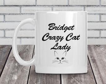 Crazy cat lady, Crazy cat lady mug, Cat lover, Coffee mug, Personalised mug, Christmas gift, Gift for her