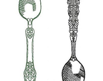 Spoon - MACHINE EMBROIDERY DESIGN
