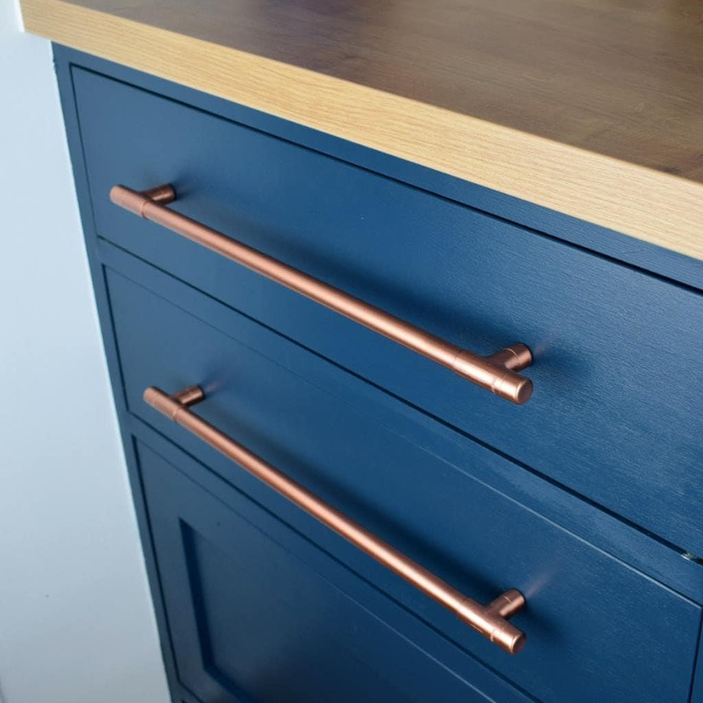 Kitchen Cabinet Handles Australia: Modern, Copper T Pull Handle. Drawer Pull. Cabinet