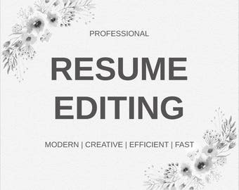 Professional Resume Editing | CV Editing | FREE Resume Template Design  Included | CV Design |  Resume Editing