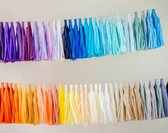 Tassel Garland DIY Kit , Tissue Paper Tassels Garland Kit , Choose your Colors and quantity