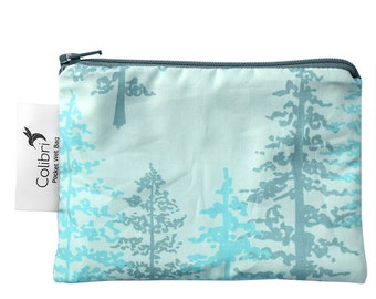 Ready to ship - Pocket Wet Bag with zipper and PUL liner great for menstrual cups - spruce