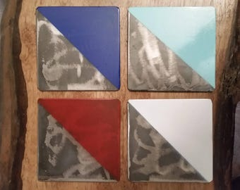 Coasters - Drink Coasters - Metal Coasters - Industrial Coasters - Modern Coasters