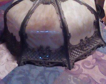 Vintage slag glass chandelier