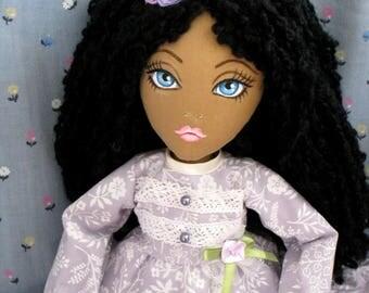 Black Dolls, Curly-haired Doll, Handmade Dolls, Textile Dolls