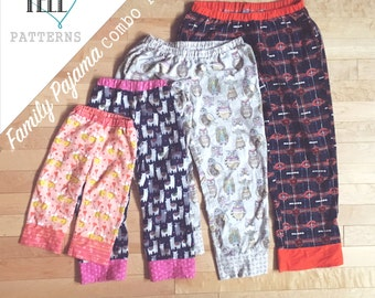 Family Pajama Pants Pattern (Easy Livin' and Sleepover Pant Pattern Combo)