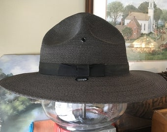 Stratton Self Forming 7 1/8 State Police Trooper Hat Vintage