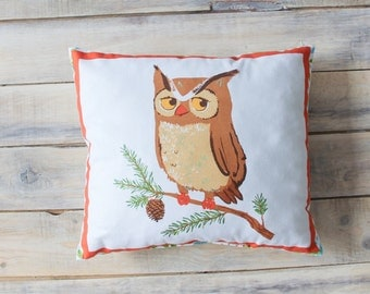 READY TO SHIP! Owl Pillow 30х30 cm