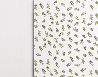 Cactus Wrapping Paper (2x A2 Sheets)