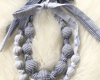 Fabric Knotted Necklace