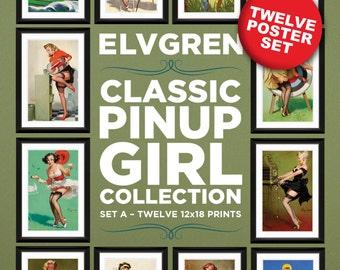 Gil Elvgren 12-Piece Poster Set A (12x18 Heavyweight 100% PCW Cover)