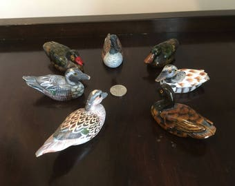 Hand Painted Miniature Duck Collection