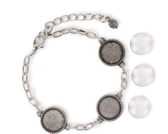 14mm Round Bracelet - Silver