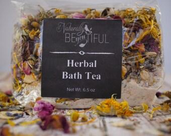 All Natural Herbal Bath Tea/ Detox Bath/ Herbal Tub Tea/ Girlfriend Gift/ Natural Gift/ Epsom Salts/ Wife Gift/ Bath Soak/Herbal Bath