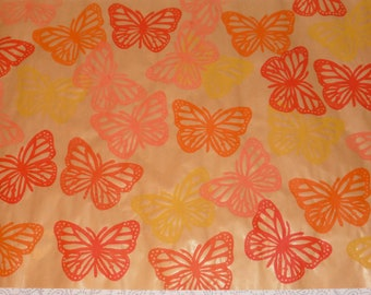 Butterflies warm colours - wrapping