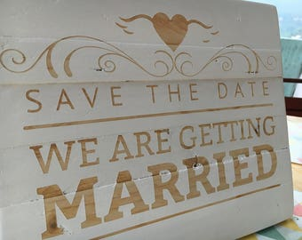 Panel wood Save the Date sign, wedding decoration, sign