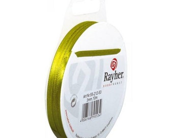 Anise green satin ribbon, 10 m, 3 mm code: RAY-335521253