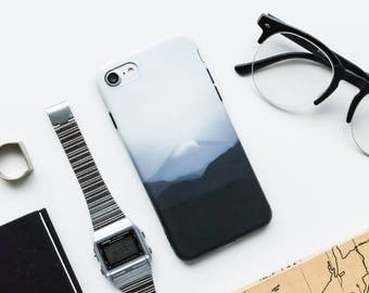 Mountain Sky iPhone Case - iPhone 6 Case, iPhone 7 Case, iPhone 6 Plus, iPhone 7 Plus, Black And White, Minimal iPhone Case, Modern iPhone