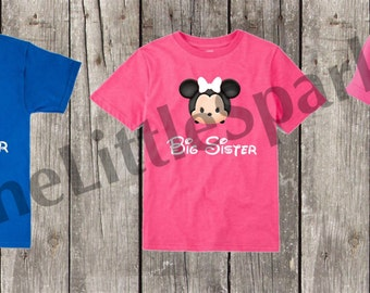 Disney Big sister // little sister // big brother // disney little brother // disney big sister again // disney sibling shirts // disney tsu