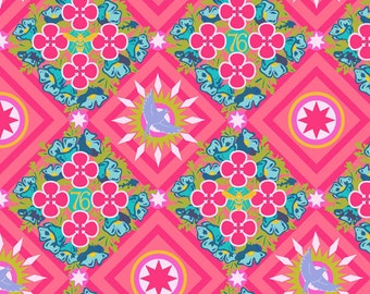 Seventy-Six by Alison Glass Renewal in Ruby A-8444-E cotton fabric andover modern material quilting supplies pink