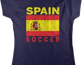 Spain Soccer, Spanish Futbol, La Liga Women's T-shirt, NOFO_00070