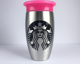Starbucks Kids Stainless Cup - Munchkin Miracle 360 Stainless Steel - Sippy Cup 360 - Pink Starbucks Sippy Cup - Starbucks Party Favors