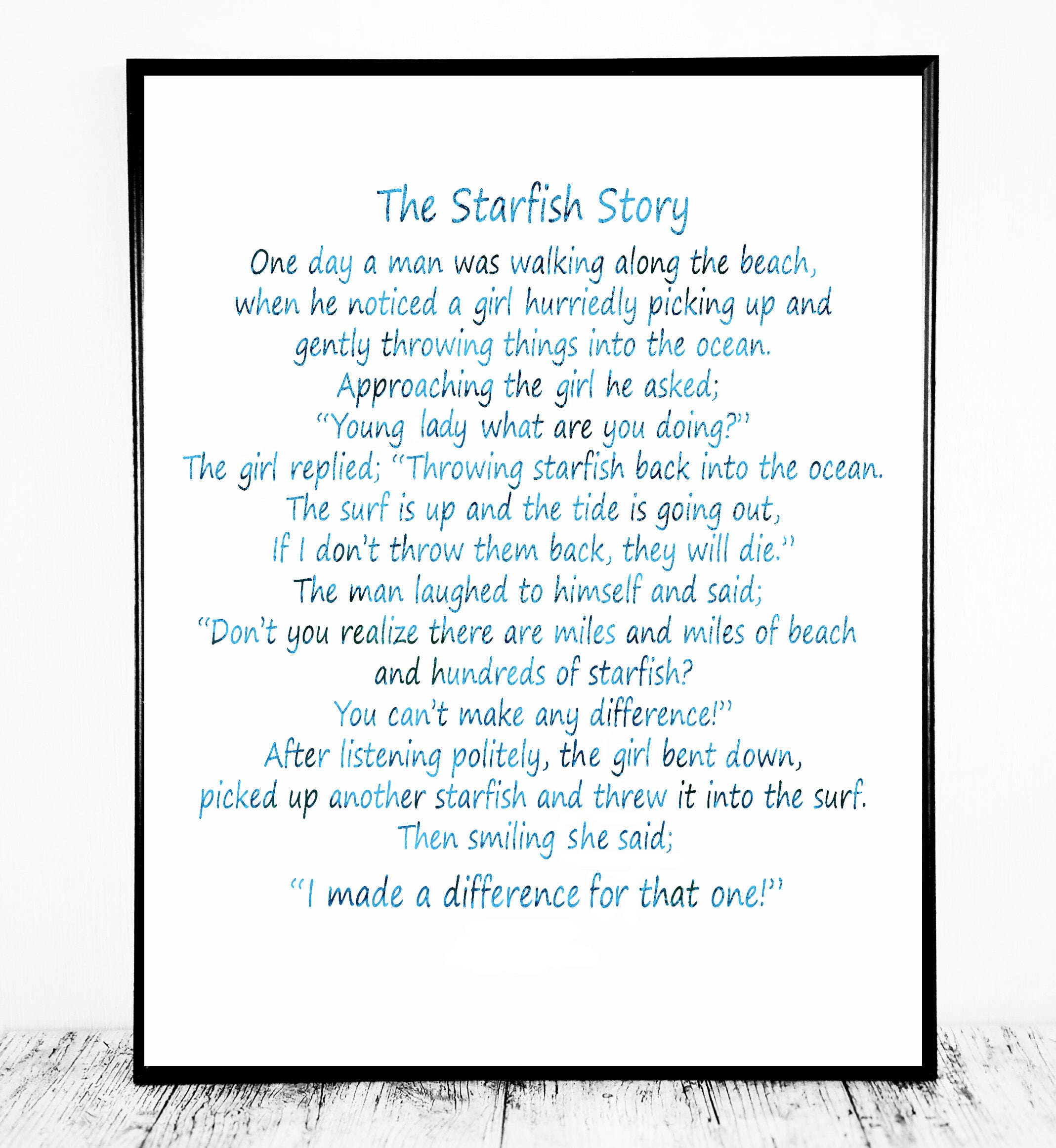 Starfish poem card -  Zoom