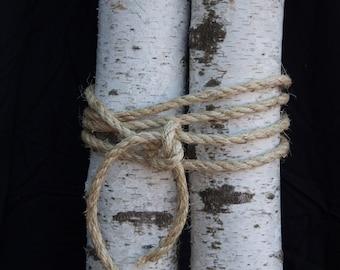 """Real Birch Logs 4"""" - 5"""" diameter, White Birch Logs, 5"""" Birch Logs, 4"""" Birch Logs, Fireplace Log, Wood Log, Decorative Logs. Large Birch Logs"""
