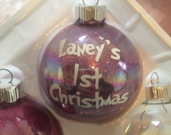 Personalized Baby's First Christmas Ornament - Name Ornament - Personalized Ornament - Holiday Ornament - Christmas Ornament