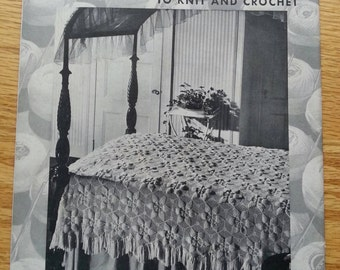 Bedspreads to knit and crochet