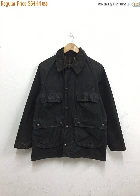 clearance sale vintage 80s barbour bedale olive green wax