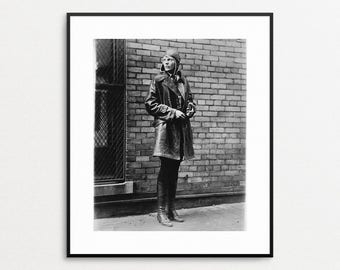 Amelia Earhart Photograph - Female Aviator - Flight Art - Amerlia Earhart Print - Vintage Pilot Photo - Woman Pilot - Famous Women - History