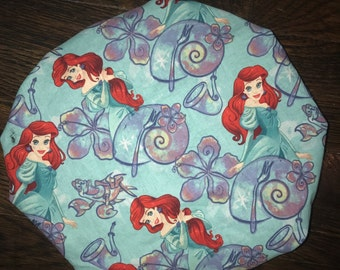 The Little Mermaid - Ariel Satin Lined Toddler/Small Child Bonnet