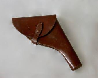 Antique Victorian 1st World War WWI British Made Leather Gun Holster