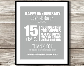 Items similar to custom calligraphy retirement gift for What do you give for a 20 year anniversary
