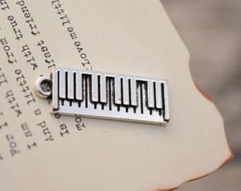 10 antiqued silver piano charms  charm pendant pendants (YY01)