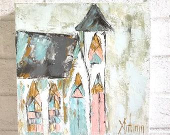 Church Painting . Church Art . Southern Art . Farmhouse Style . Spiritual Art . Spiritual Gift
