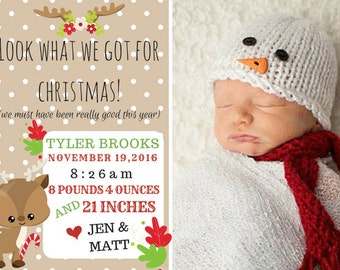 Christmas Baby Birth Announcement