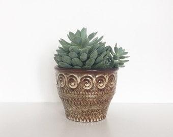 Vintage planter | Vintage ceramic pot | Succulent planter | Jasba planter | Strehla planter | Ceramic planter | Retro pottery