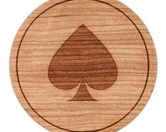"Ace Of Spades Circle Magnet, Round Magnet, 2"" Refrigerator Magnet"