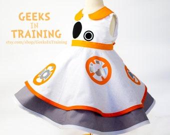 BB-8 Star Wars Inspired Baby / Toddler Cosplay Dapper Disneybound Dress
