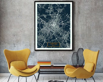 CAMPINAS Brazil CANVAS Large Art City Map Campinas Brazil Art Print poster map art jt JackTravelMap